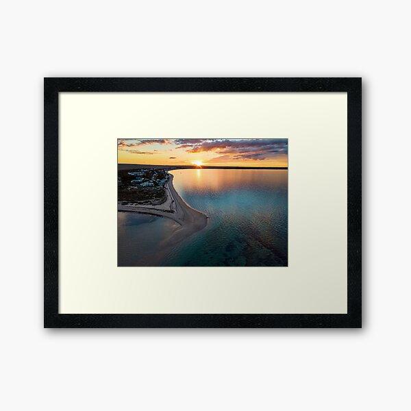 Sunset over the bay at Black Point, Yorke Peninsula SA Framed Art Print