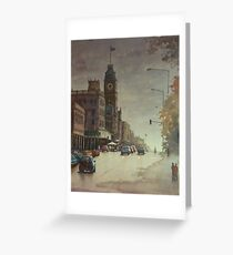 Sturt street, Ballarat at dusk Greeting Card