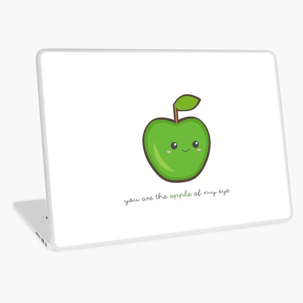 Fruit Puns - You are the apple of my eye Laptop Skin
