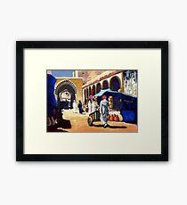 Steet market in Morocco Framed Print