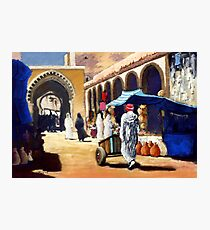 Steet market in Morocco Photographic Print