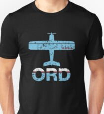 Fly Chicago O'Hare ORD Airport Slim Fit T-Shirt