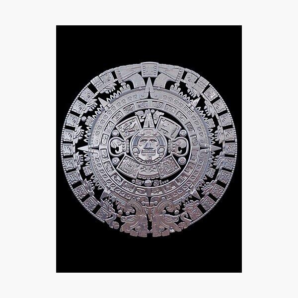 Modern Aztec Sun Stone Photographic Print