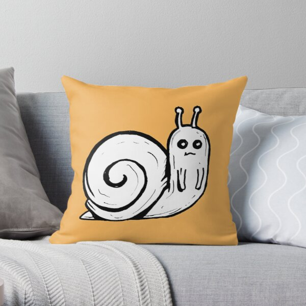 Cute Snail from Adventure Time™ Throw Pillow