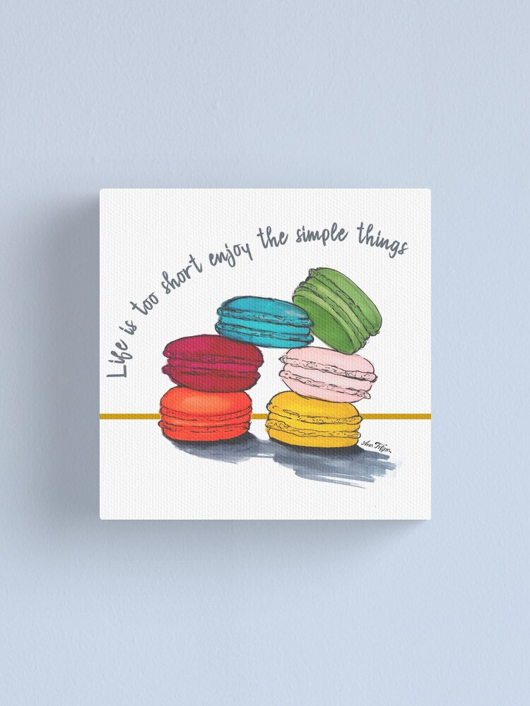 Alternate view of life with macarons Canvas Print