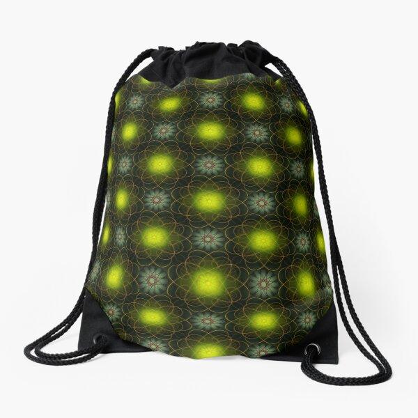 Light Flower Drawstring Bag