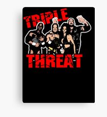 ECW Triple Threat  Canvas Print