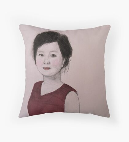 Beijing Girl  Throw Pillow