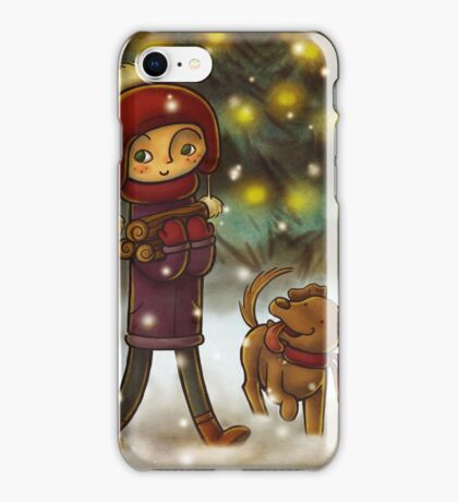 Gathering firewood iPhone Case/Skin
