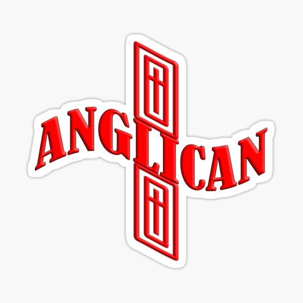 Anglican cross Sticker
