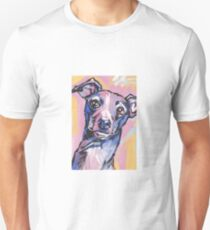 Italian Greyhound Dog Bright colorful pop dog art Unisex T-Shirt