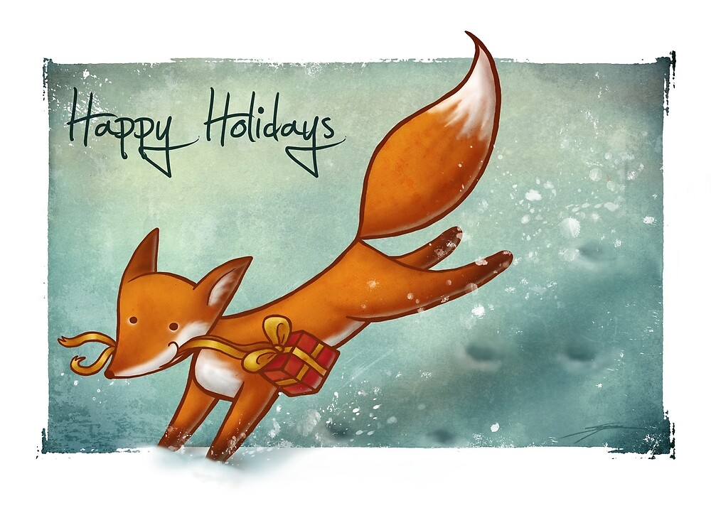 """""""Holiday Fox"""" by Ine Spee"""