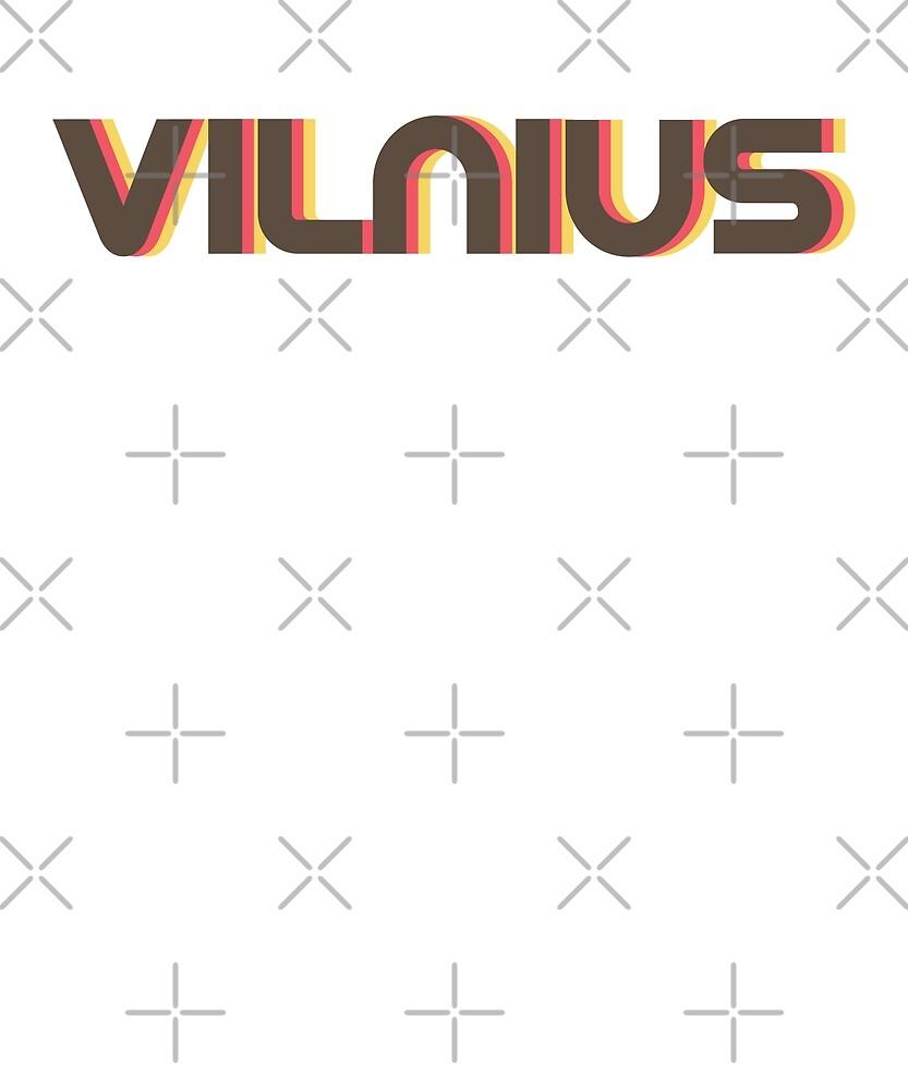 Retro Vilnius T-Shirt by designkitsch