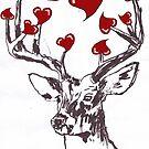 Horny Valentine Deer by Juhan Rodrik