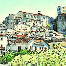 Landscape with Papasidero by Giuseppe Cocco