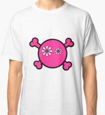 Funny pink skull and bones Classic T-Shirt