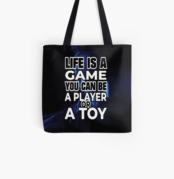 ★ Life is a Game   Art All Over Print Tote Bag