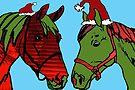 Christmas Traffic Horses  by Juhan Rodrik