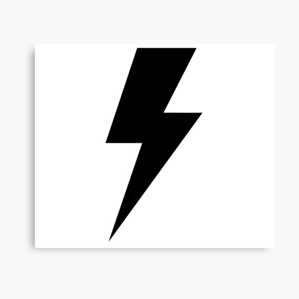 Big Black Lightning Bolt Zigzag Thunder Electricity Sign Symbol Canvas Print By Alenaz Redbubble,Principles Of Design Pattern Picture