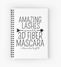 Amazing Lashes Sponsored by 3D Fiber Mascara. Ask me about it!  Younique Inspired Spiral Notebook