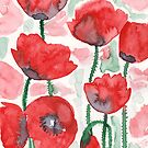 Washy Poppies  by Danelle Malan
