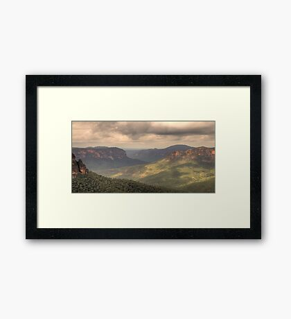 Shadows And Light - Govetts Leap, Blue Mountains World Heritage Area - The HDR Experience Framed Print