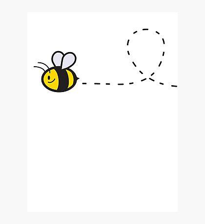 Cute Bee Top Photographic Print