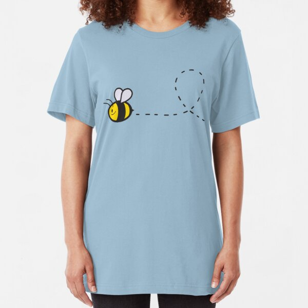 Cute Bee Top Slim Fit T-Shirt