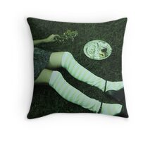 she didn't have the time  Throw Pillow
