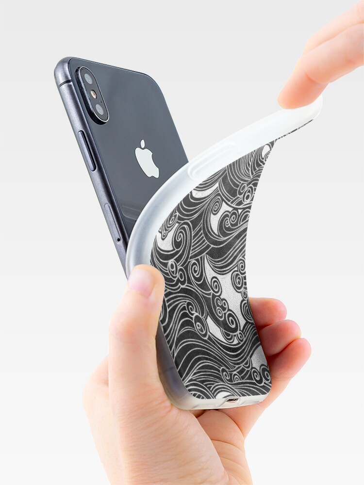 Alternate view of Black Wave iPhone Case & Cover