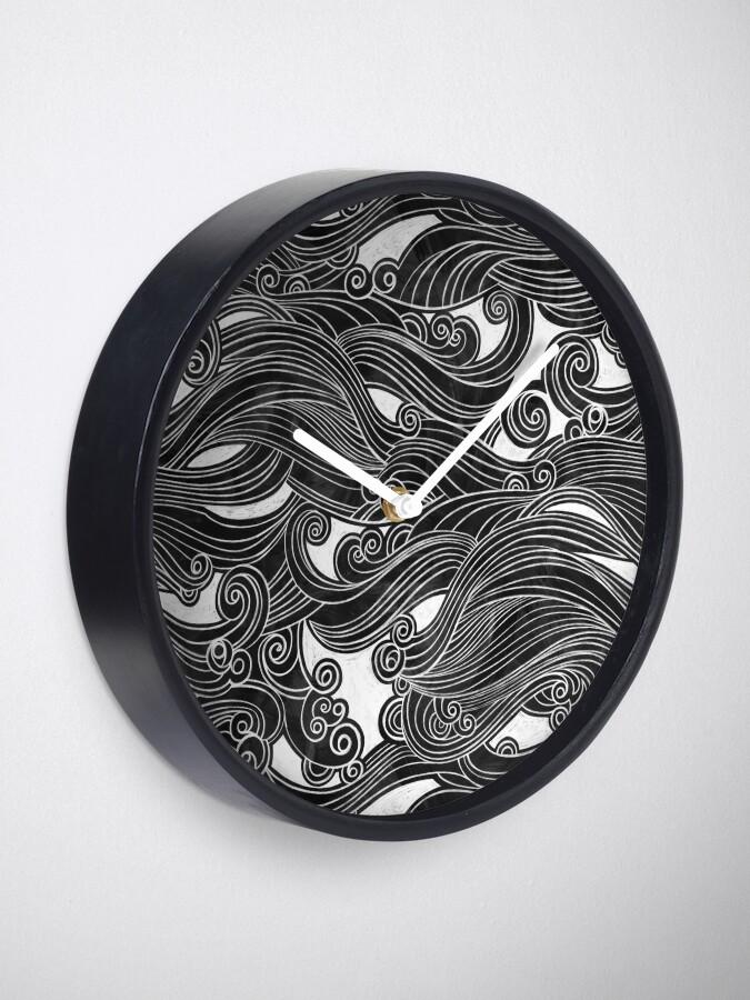 Alternate view of Black Wave Clock