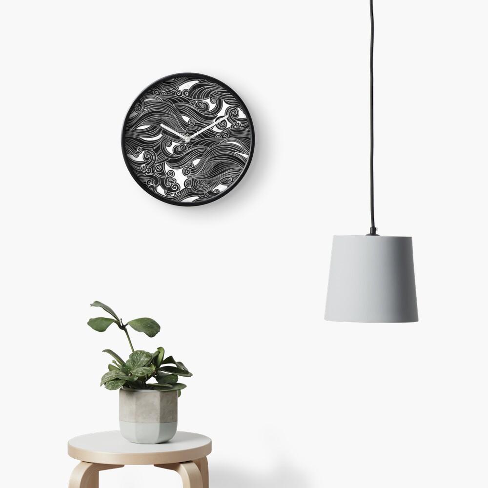 Black Wave Clock