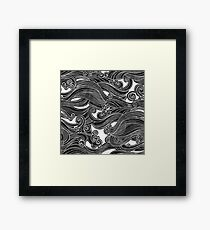Black Wave Framed Print