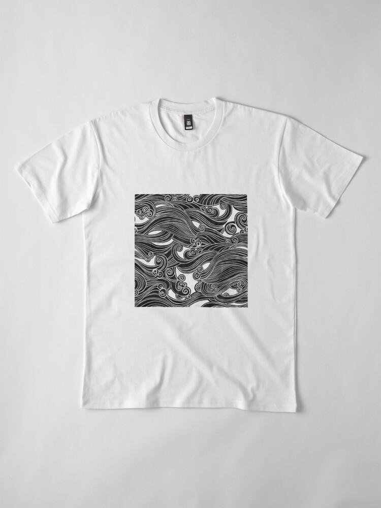 Alternate view of Black Wave Premium T-Shirt
