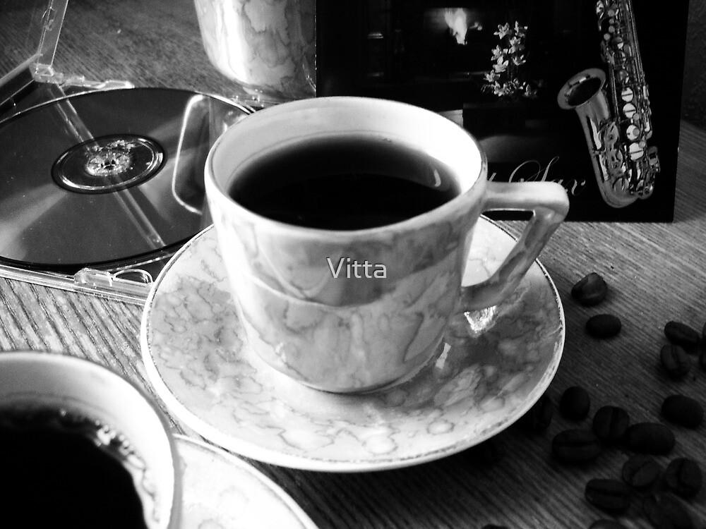 Sax and Coffee.B&W. by Vitta