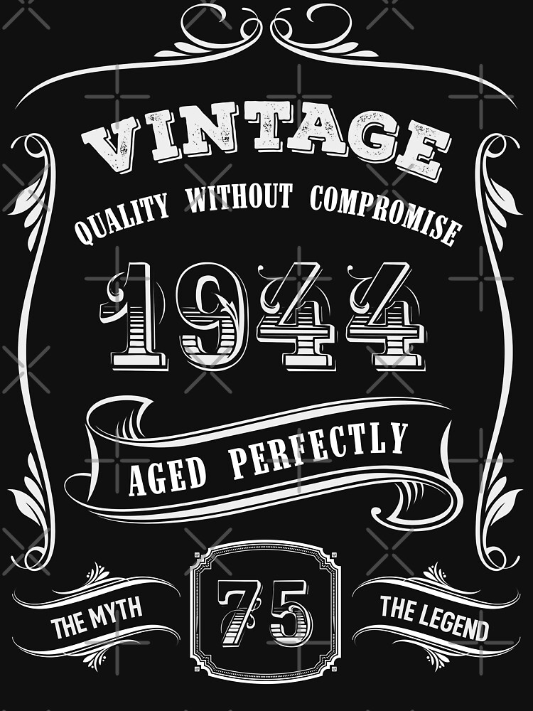 Vintage 1944 - 75th Birthday Gift Idea by yetbubble