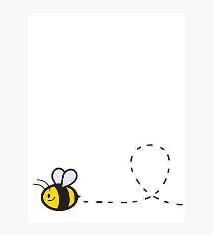 Cute Bee Bottom Photographic Print