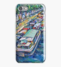 Houseboats on the Seine iPhone Case/Skin