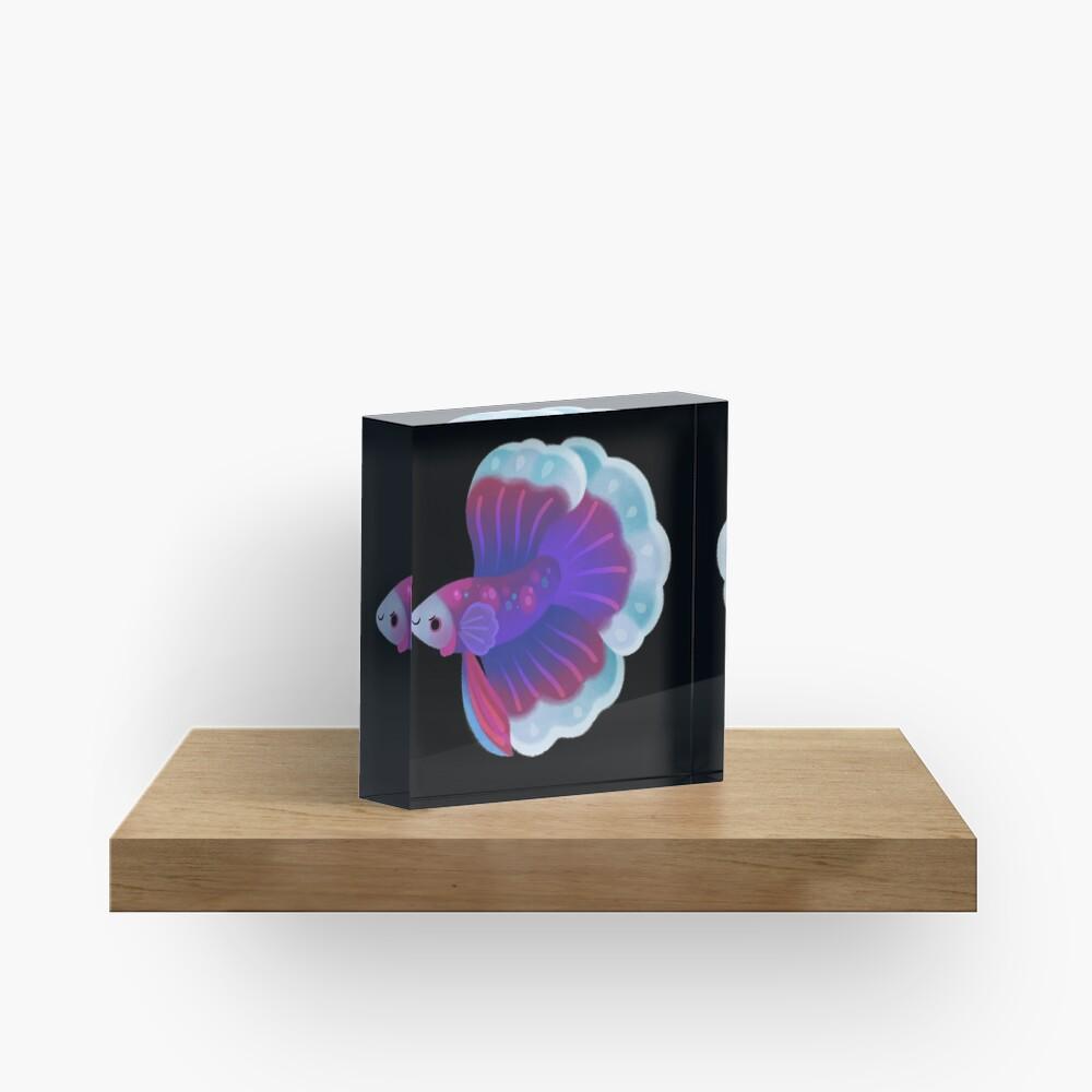Blue Betta Acrylic Block
