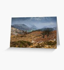 Snowstorm Over Borrowdale Greeting Card