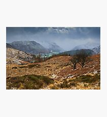 Snowstorm Over Borrowdale Photographic Print