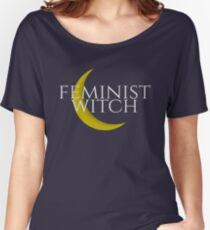 Feminist Witch With Moon Women's Relaxed Fit T-Shirt