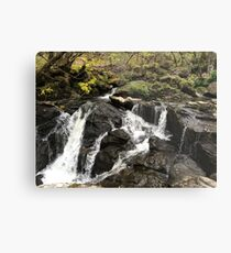The Waterfall at Inversnaid Metal Print