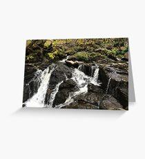 The Waterfall at Inversnaid Greeting Card