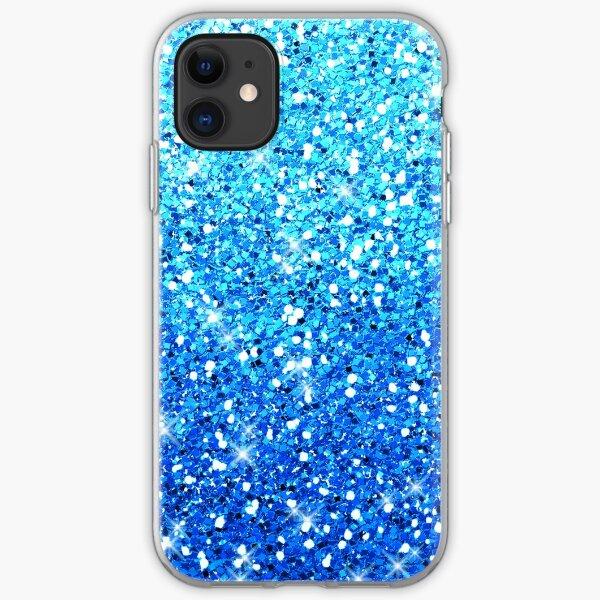 Blue Glitters Sparkles Texture iPhone Soft Case
