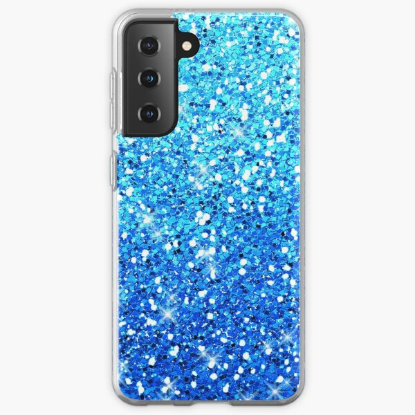 Blue Glitters Sparkles Texture Samsung Galaxy Soft Case