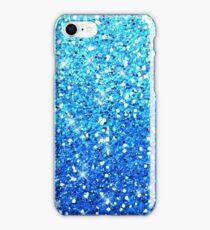 Blue Glitters Sparkles Texture iPhone Case/Skin