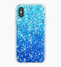 Blue Glitters Sparkles Textur iPhone-Hülle & Cover