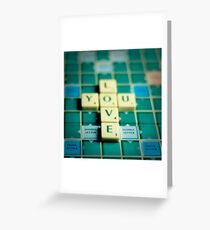 Love You Scrabble. Greeting Card