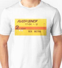 FRENCH Ticket RER-RATP  Unisex T-Shirt